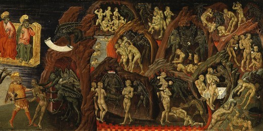 Hell, from The Last Judgement (right-hand panel) : Stock Photo