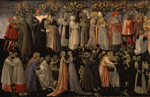 Paradise, from The Last Judgement (left-hand panel) : Stock Photo