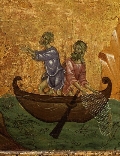Stock Photo: 4069-4767 Fishermen (detail) probably Saints Peter and Andrew