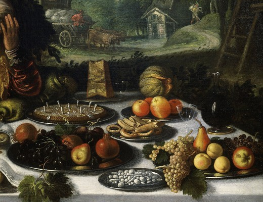 Stock Photo: 4069-4943 Gastronomy, from The Vanity of Riches (detail)