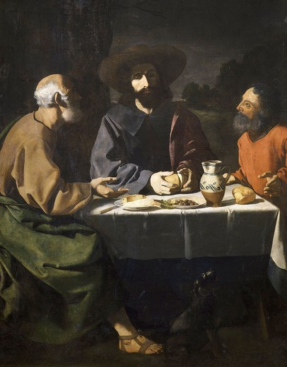The Pilgrims at Emmaus : Stock Photo