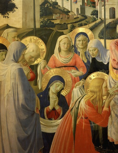 Stock Photo: 4069-5036 Holy Women, from The Deposition of Christ, 1435 (detail)