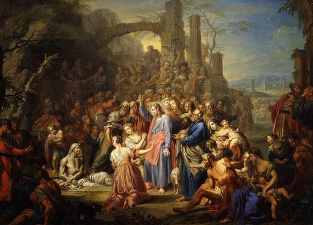 Stock Photo: 4069-5044 The raising of Lazarus