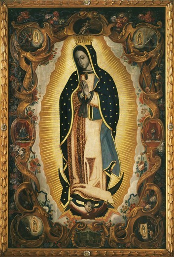 Stock Photo: 4069-5053 Our Lady of Guadelupe, late 17th - early 18th century