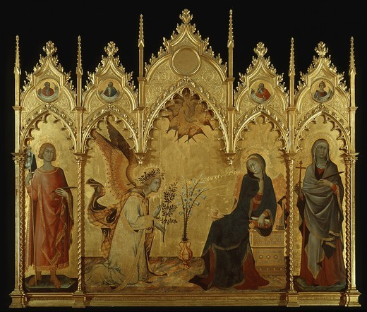 Stock Photo: 4069-5066 The Annunciation, 1333, painted wood panel