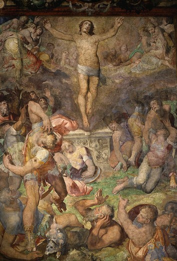 Stock Photo: 4069-5174 The Resurrection, 1569-77 fresco