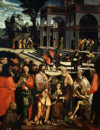 The Raising of Lazarus, 1530 : Stock Photo