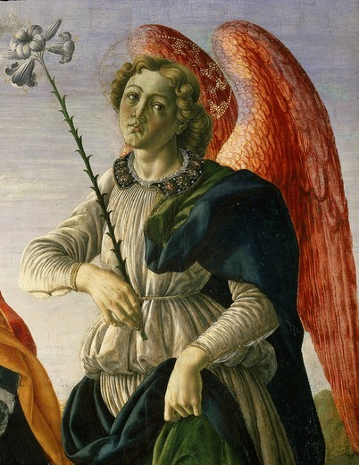 Gabriel, from Tobias and the Three Archangels (detail) : Stock Photo