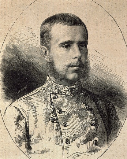 Stock Photo: 4069-5640 ALEXANDER II, 1818-1881, Tsar of Russia, engraving, 17 March 1855, from French publication L'Illustration