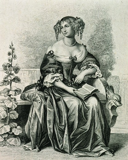Stock Photo: 4069-5666 Marie Madeleine Pioche de la Vergne de LA FAYETTE, 1634-92 French novelist, engraving