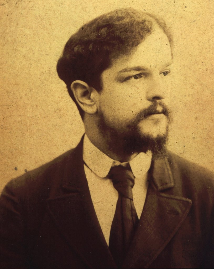 Stock Photo: 4069-5842 Claude DEBUSSY, 1862-1918 French composer, c. 1893 photograph