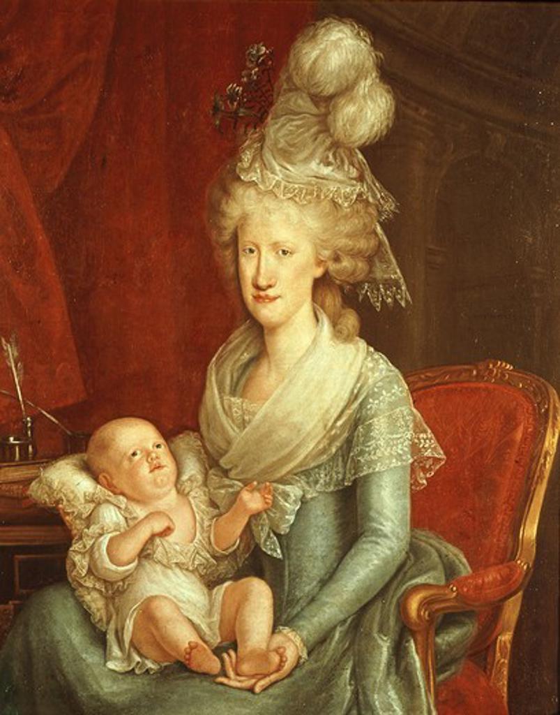 Stock Photo: 4069-5901 MARIE Caroline of Austria, 1752-1814 Queen of Naples (wife of Ferdinand IV), sister of Marie Antoinette
