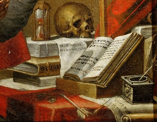 Stock Photo: 4069-6151 Manuscripts of Saint Jerome, Vulgata, Latin bible, detail