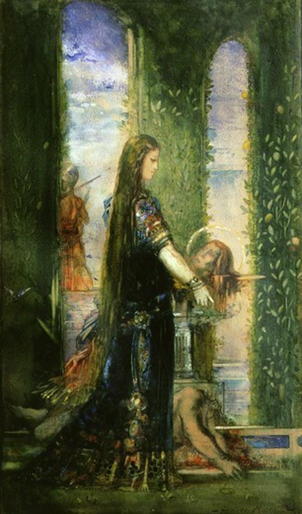 Salome in the garden, gouache : Stock Photo