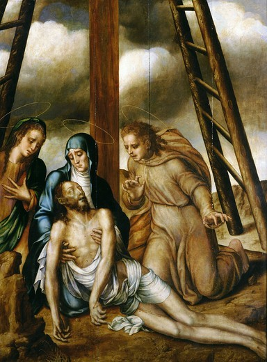 Stock Photo: 4069-6215 Pieta, oil on canvas