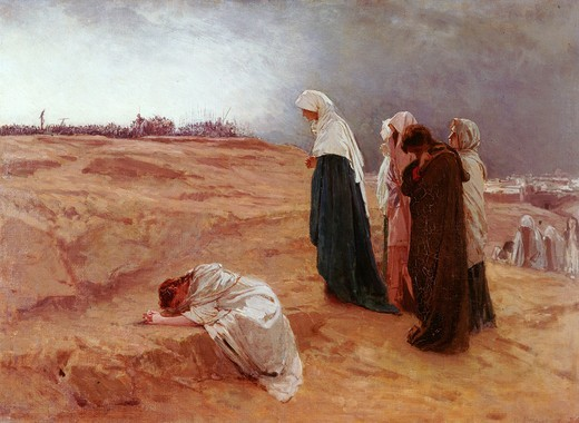 Stock Photo: 4069-6247 The women at calvary, late 19th century