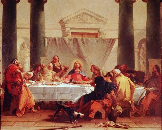 Stock Photo: 4069-6269 The Last Supper, c.1745-7