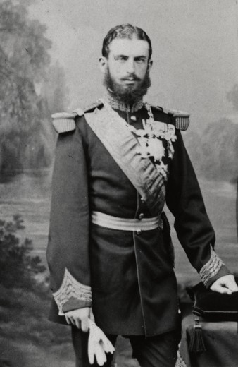 Stock Photo: 4069-6345 King CAROL I of Romania, 1839-1914, reigned from 1881, photograph by Lejeune, Paris