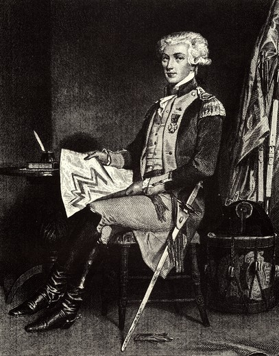Marquis de LAFAYETTE, Marie-Joseph Paul Yves Roch Gilbert du Motier, 1757-1834, French aristocrat who fought with the Americans against the British colonists in the American War of Independence, later a key figure in the French Revolution : Stock Photo