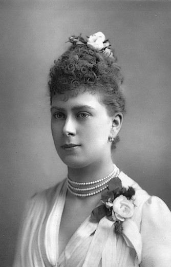 Stock Photo: 4069-6366 Queen MARY, Princess Victoria Mary of Teck known as May, 1867-1953, married King George V, 1893, grandmother of Queen Elizabeth II