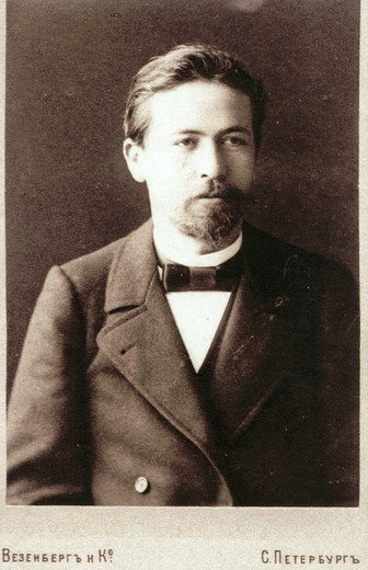 Stock Photo: 4069-6377 Anton CHEKHOV, 1860-1904, Russian author and playwright as a young man, studio photograph, St Petersburg, c.1894