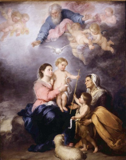 The Holy Family, called The Virgin of Seville, 1670 : Stock Photo