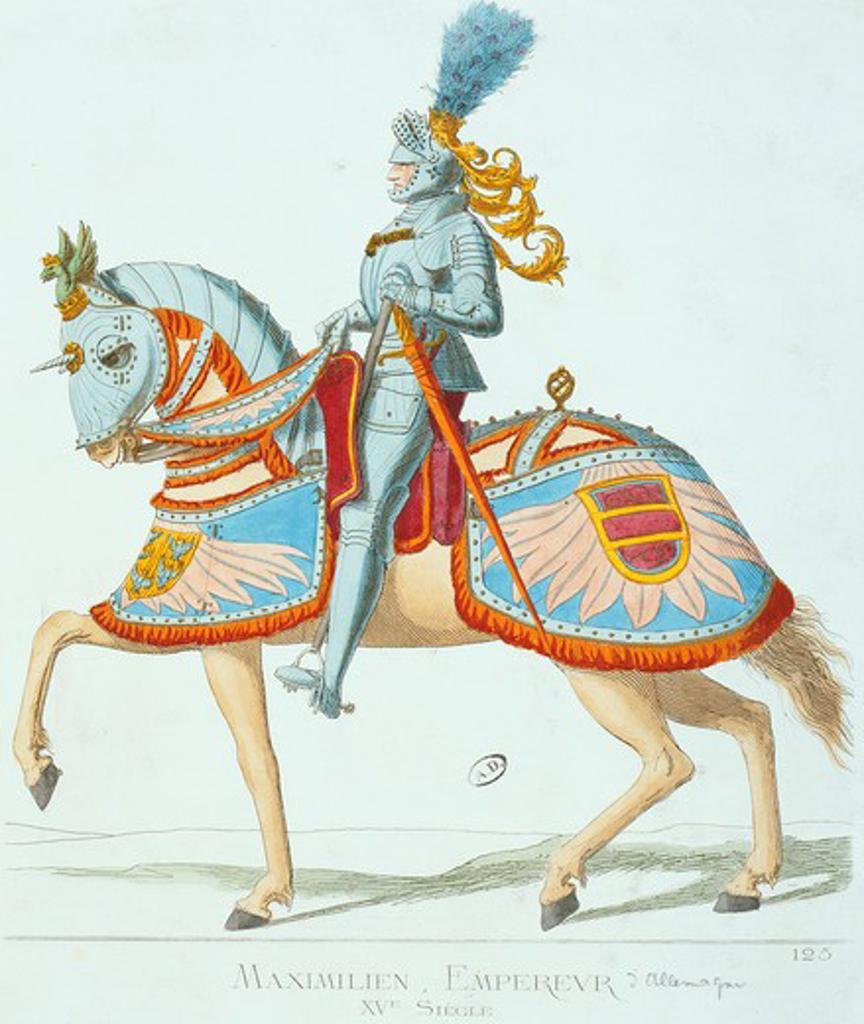 Stock Photo: 4069-6530 MAXIMILIAN I, 1459-1519, German Emperor, 15th century