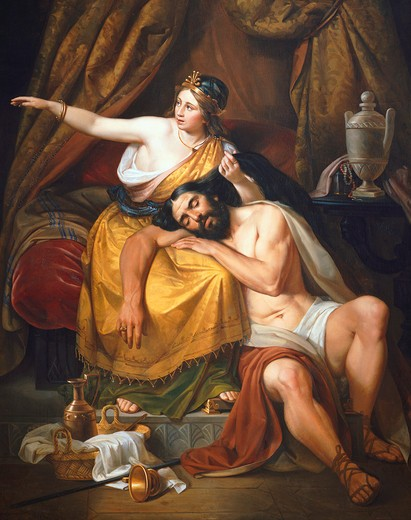 Samson and Delilah, 1851 : Stock Photo
