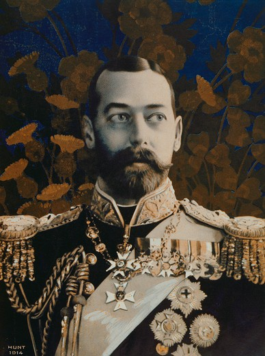 Stock Photo: 4069-6624 GEORGE V, 1865-1936, King of England from 1910, photograph by Hunt, 1914