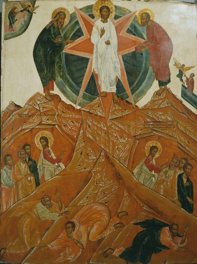 Stock Photo: 4069-6642 The Transfiguration, 18th century, central Russian, from Banca Intesa Collection of Russian Icons