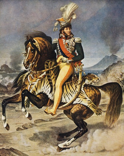 Stock Photo: 4069-6893 Joaquim MURAT, 1761-1815, king of Naples, equestrian portrait, after Gros