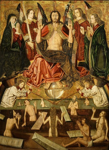 Stock Photo: 4069-760 The Last Judgement, retable of Church of Blesa (1485-7)
