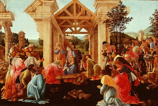 Stock Photo: 4069-797 The Adoration of the Magi, 1481-82
