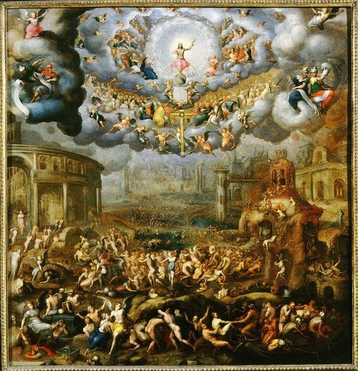 Stock Photo: 4069-867 The Last Judgement, 1585, Painted for the Ursuline Convent in Vincennes