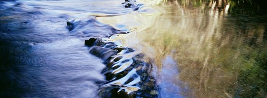 Ripples in stream, River Inn, Big Sur, California, USA : Stock Photo