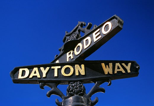 Stock Photo: 4073-1093 Dayton Way, Street sign, Beverley Hills, Los Angeles, California, USA