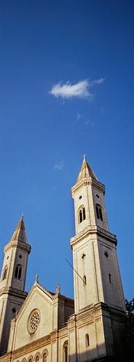 Ludwigs Church spire, Ludwig Street, Munich, Bavaria, Germany : Stock Photo