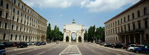 Victory Gate Ludwig Street, Munich, Bavaria, Germany : Stock Photo