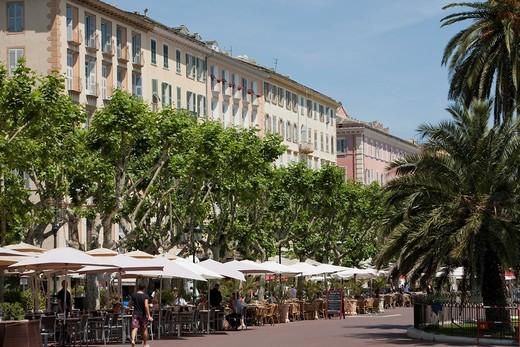 Street cafe, Bastia, Corsica : Stock Photo