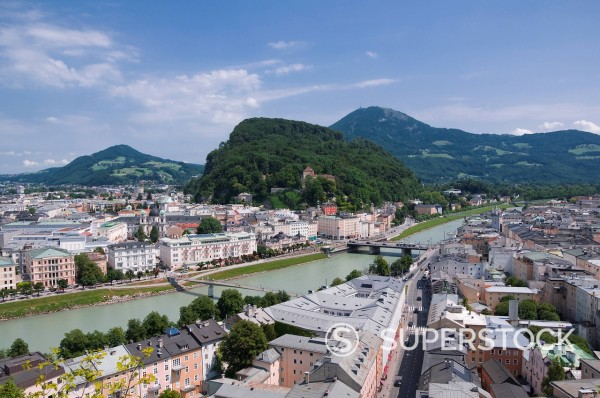 Stock Photo: 4073R-2357 Cityscape of Salzburg, Austria