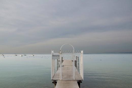 Jetty on Lake Garda, Bardolino, Italy : Stock Photo
