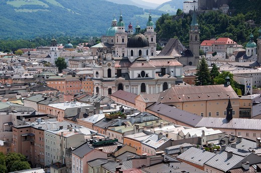 Stock Photo: 4073R-2603 Cityscape of Salzburg, Austria