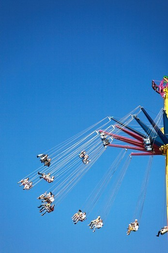 Detail of fairground rides at Oktoberfest, Munich, Germany : Stock Photo