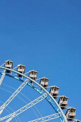 Detail of Ferris wheel at Oktoberfest beer festival, Munich, Germany : Stock Photo