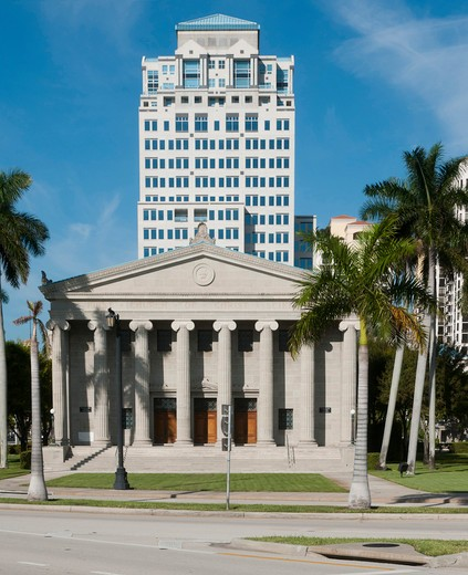 USA, Florida, West Palm Beach, First Church of Christ Scientist : Stock Photo