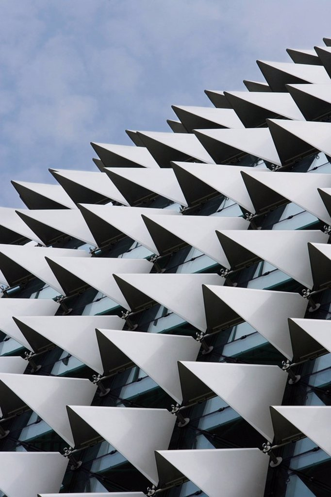 Close up of Esplanade Theater roof, Singapore. : Stock Photo