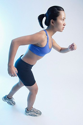 Stock Photo: 4079R-8378 Woman running