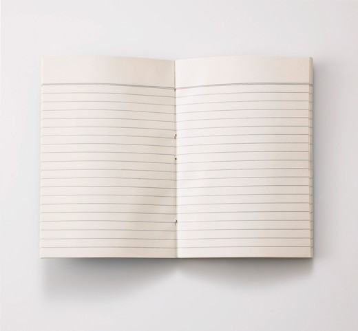 Stock Photo: 4084R-1588 Open Notebook With Lined Pages
