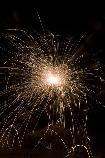Lit Sparkler : Stock Photo