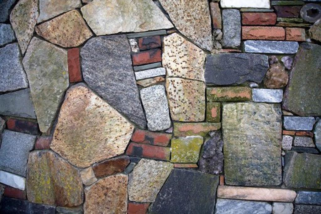 Stock Photo: 4084R-575 Stone Mosaic Wall